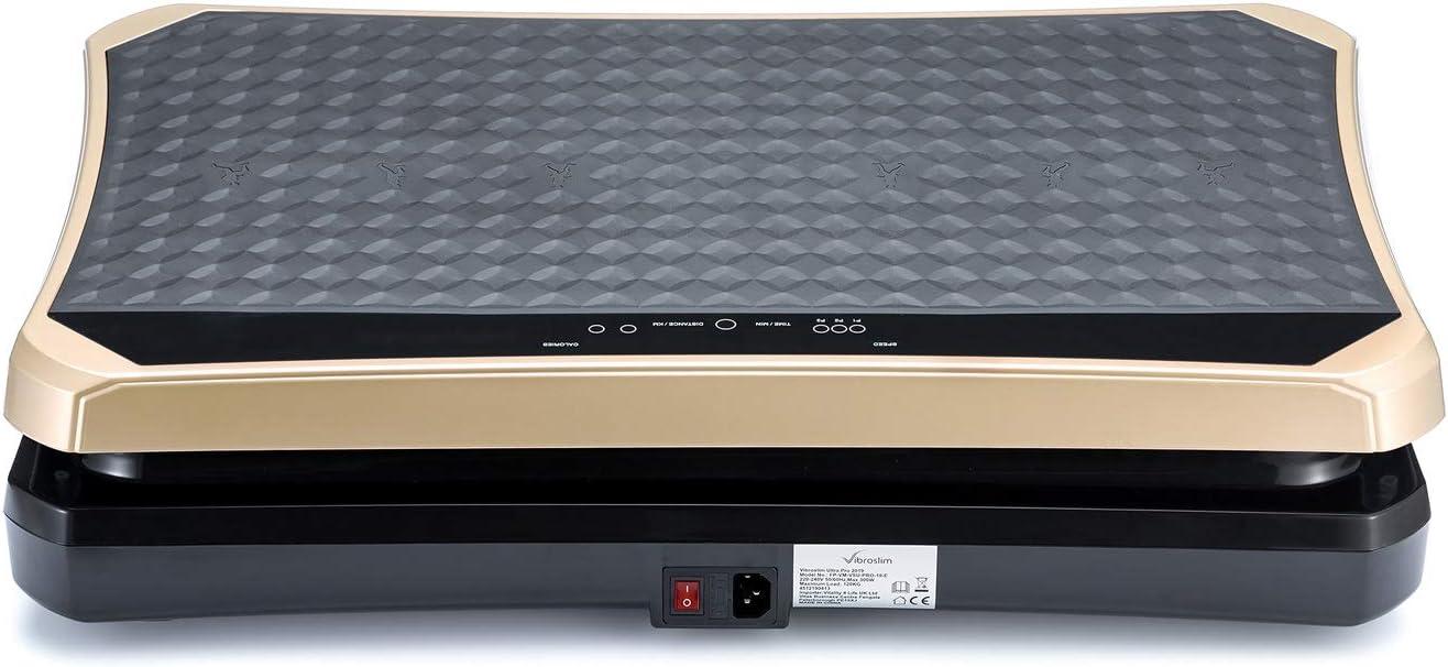 VibroSlim Plateforme Vibrante Ultra Pro Poster Mural et Straps Inlcus DVD Garantie 3 Ans