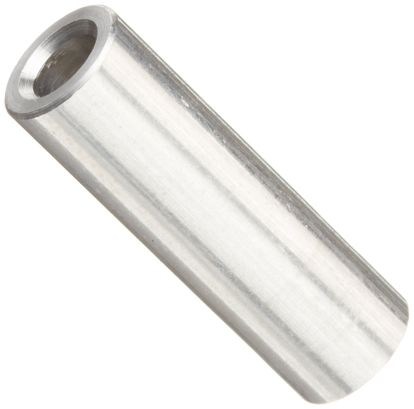 Aluminum Pack of 10 5//16 OD Plain Finish #8 Screw Size Round Spacer 0.166 ID 7//8 Length Made in US