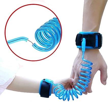 Harnais de sécurité Laisse Anti perdu Bracelet Lien Traction Corde pour bébé enfants