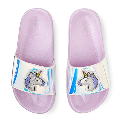 7a21b13eb7c75 Amazon.com | The Children's Place Girls' Unicorn Slide Sandal, Multi ...