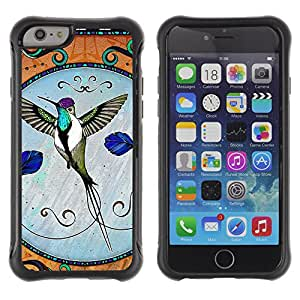 ZAKO Cases / Apple Iphone 6 PLUS 5.5 / Hummingbird / Robusto Prueba de choques Caso Billetera cubierta Shell Armor Funda Case Cover Slim Armor