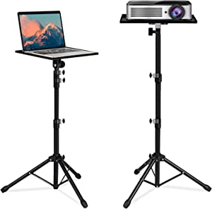 Meetss Projector Tripod Stand, Universal Laptop Projector Tripod Stand, Portable DJ Device Bracket, Suitable for Outdoor, Home Theater, Stage or Studio, Height Adjustable from 23 to 49 Inches