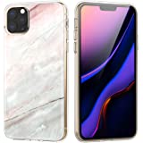 iPhone 11 Pro ケース ATiC iPhone 11 Pro カバー 5.8インチ iPhone 新型 2019 ソフト TPU+PC製 スマホ保護ケース カバー 弾力性付き 高感度なポタン アンチスクラッチ 擦り傷防止 軽量薄型 耐衝撃 スマホケース 大理石柄 Pink gray