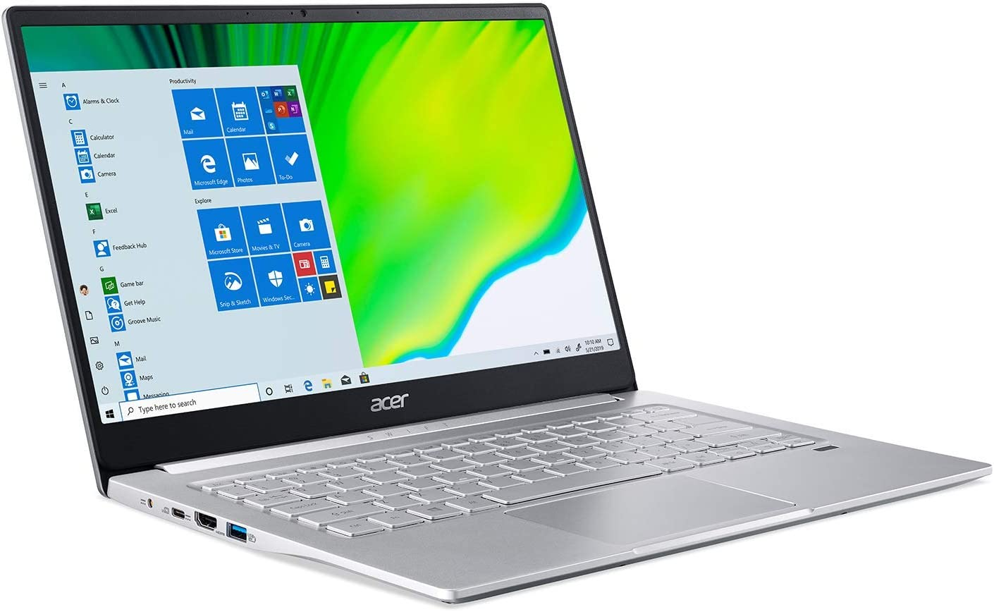 "(Renewed) 2020 Acer Swift 3 SF314 Thin & Light Laptop, 14"" FHD IPS, AMD Ryzen 5 4500U Hexa-Core up to 4.0 GHz, 8GB LPDDR4, 256GB SSD, Backlit KB, FP Reader, WiFi 6, USB-C, Win 10"