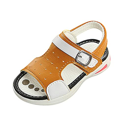 5ef2ea73c Voberry Voberry Baby-Boys Sports Beach Sandals Soft Soled Anti-Slip  Luminous Lighting Led Shoes  Amazon.in  Shoes   Handbags