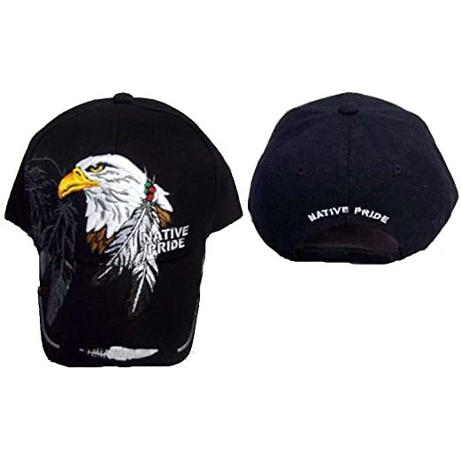 1faf5deb9ae Image Unavailable. Image not available for. Color  Eagle Feathers Native  Pride Baseball Caps ...