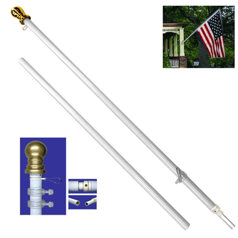 6ft Spinning Stabilizer Pole (White)