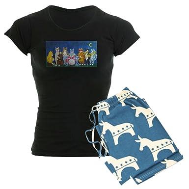 7e0ccc553 CafePress - Salsa Cats At Night - Womens Novelty Cotton Pajama Set,  Comfortable PJ Sleepwear