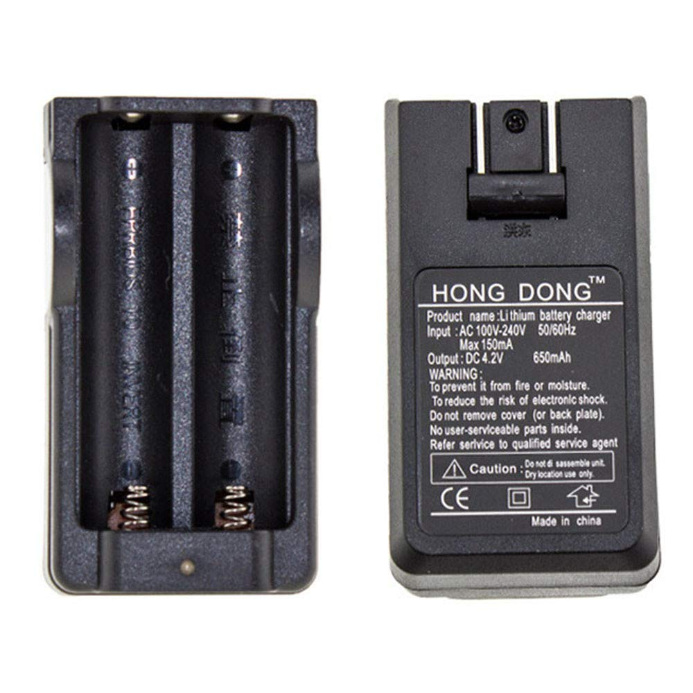 Amazon.com: Universal Dual Battery Charger for 18650 16340 ...