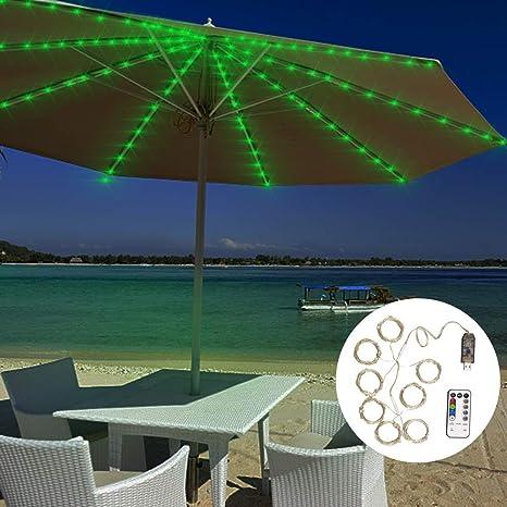 Umbrella String Lights Upgrade 112 Led Usb Operated Rgb Multi Color