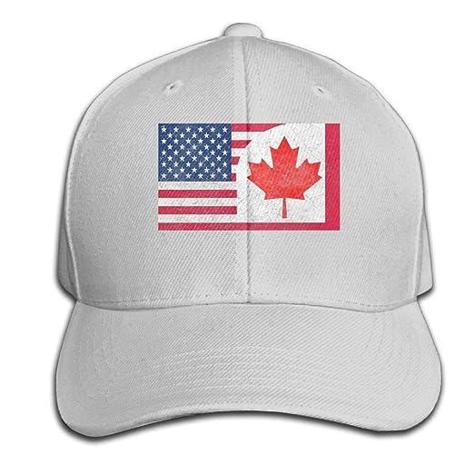 d9fa9f0a778 YD2HO-CAPS Canada US Friendship Flag Combination Men Women Adjustable  Snapback Dad Hats Baseball Cap