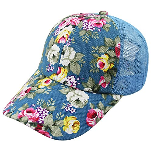 Women Ladies Flower Baseball Caps Sun Protection Large Visor Mesh Sun Caps Hats Headwear Breathable Outdoor Sports Cycling Camping Fishing Travel Tennis Golf Beach Hats Caps Topee UV50+