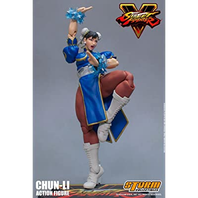 BLUEFIN Street Fighter V Agent of Justice Chun-Li 1/12 Scale Action Figure: Toys & Games