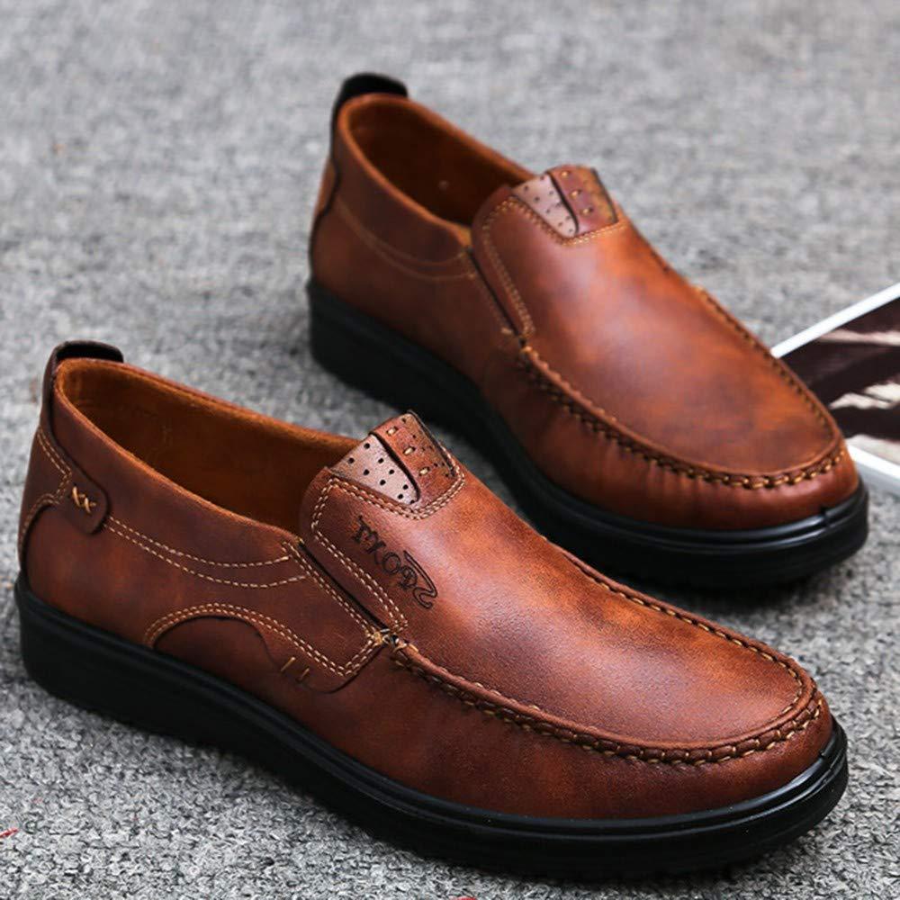 Faux su/ède Homme 40-48 LuckyGirls Mode Nouveau Homme Faux Suede Chaussures en Cuir Oxfords Printemps Automne Oxford Chaussures Chaussons Style Mocassins