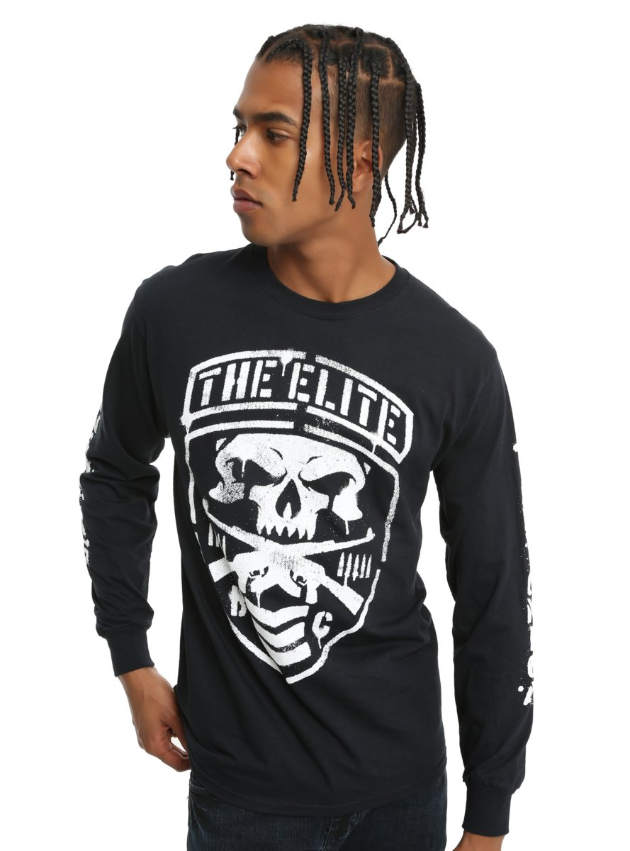 New Japan Pro-Wrestling The ELITE Shield Long-Sleeve T-Shirt by Hot Topic