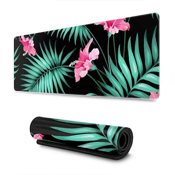 Alfombrilla Antideslizante para ratón, diseño de Flores Tropicales ...