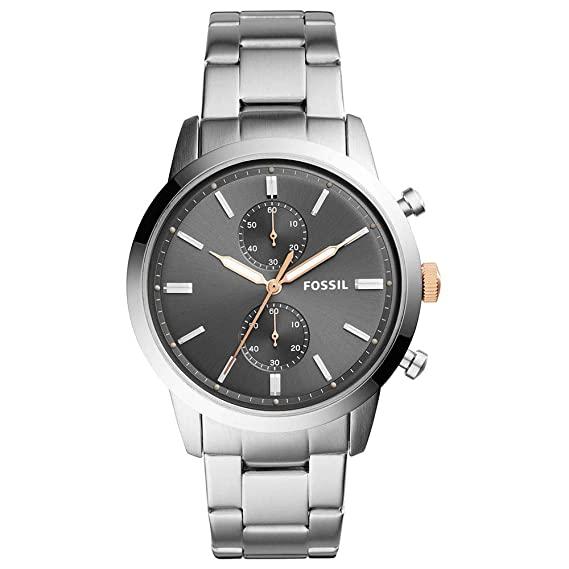 13d570ecdda Buy Fossil Mens Chronograph Stainless Steel Watch - WFIF-FS5407I Silver  Online at Low Prices in India - Amazon.in