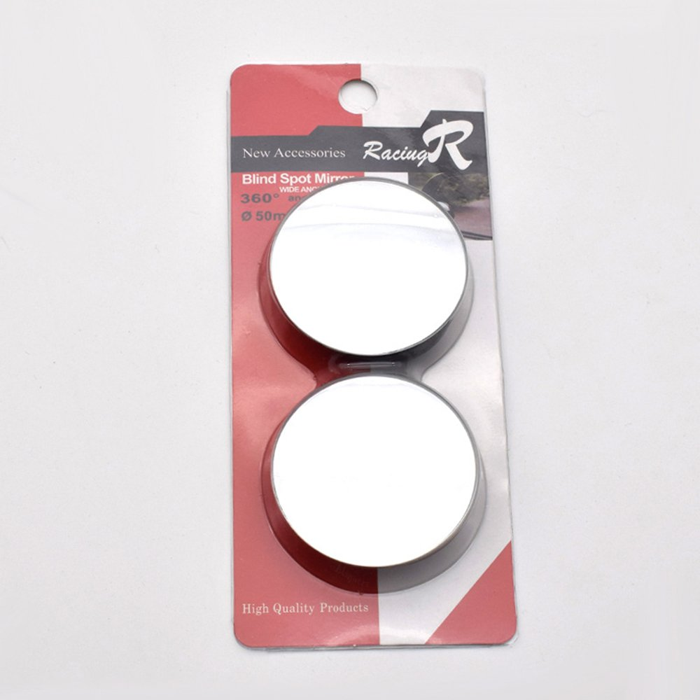MotorFansClub Blind Spot Mirror, 2'' Round HD Glass Frameless Convex Rear View Mirror, Pack of 2 by MotorFansClub (Image #7)