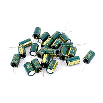 10Pcs Aluminum Electrolytic Capacitor 2200uF 25V 13*21 mm Radial