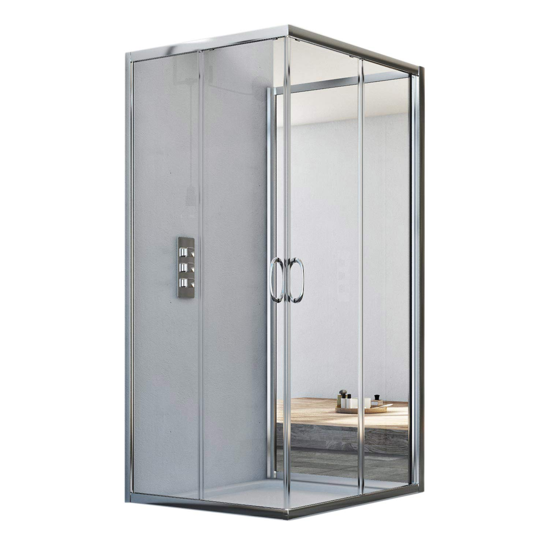 3-sided shower enclosure 700x700x700 MM H1850 Clear mod. Junior Trio ...