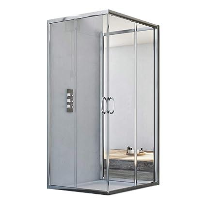 Box Doccia 3 Lati Offerte.Box Doccia 3 Lati 90x75x90 Cm H185 Trasparente Mod Junior Trio