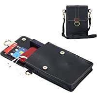 """Small Leather Crossbody Phone Bags for Women with Card Slots, 6.5"""" Cell Phone Purse Wallet Shoulder Bags for Travel by YUNEIK"""