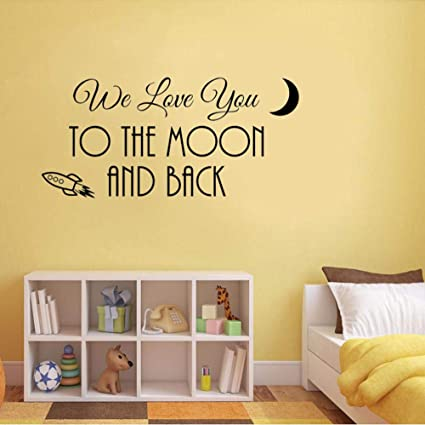 Amazon.com: Fifikoj Love You to The Moon and Back Children\'s ...