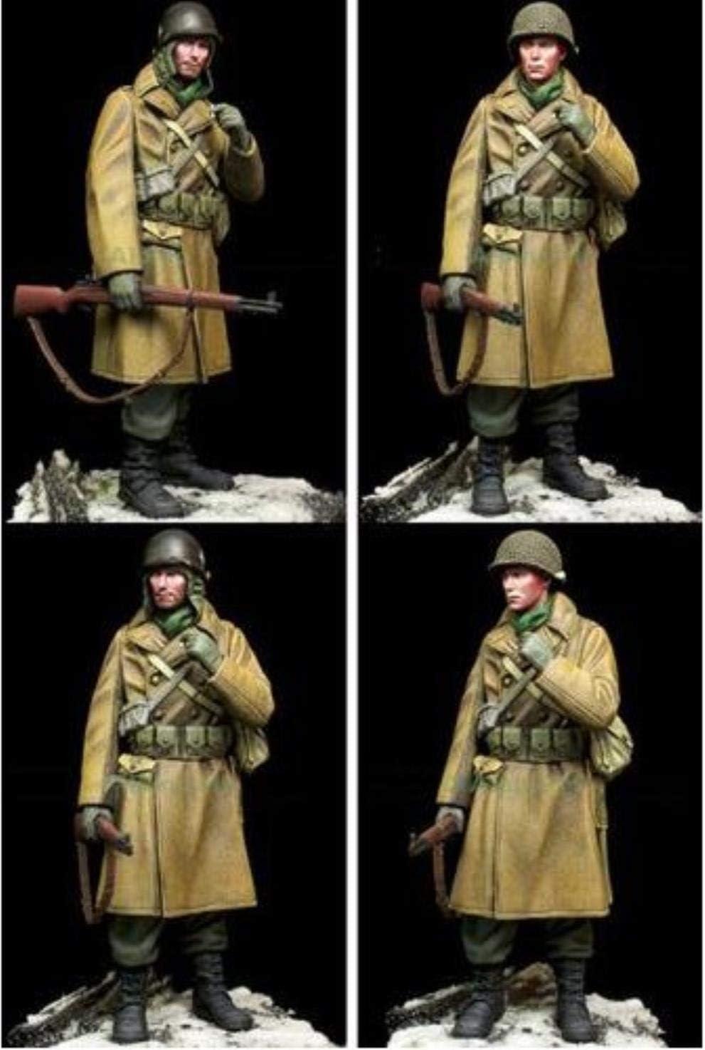 QINGLV Decoraci/ón Estatua Escultura 1//16 Escala Ww2 Soldados Estadounidenses En Invierno WWII Kit De Modelo De Resina Sin Pintar Figura En Miniatura