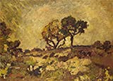 Oil Painting 'Adolphe Monticelli - Sunset,about 1882-4', 24 x 34 inch / 61 x 85 cm , on High Definition HD canvas prints is for Gifts And Hallway, Home Theater And Powder Room Decoration