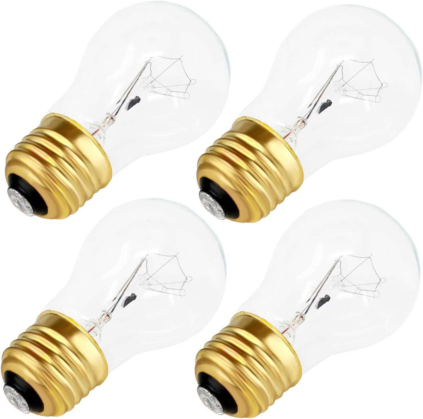 Appliance Oven Refrigerator Bulbs, A15 Shape Appliance Bulb, 40 Watt, High Temp, E27 Medium Base, Clear Glass, Oven Bulbs