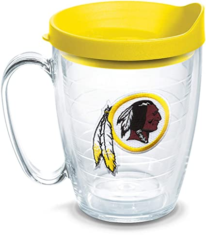 eb82e68b Tervis 1062499 NFL Washington Redskins Primary Logo Tumbler with Emblem and  Yellow Lid 16oz Mug, Clear