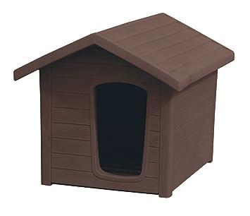 Caseta linda 1 Marrón 44 x 58 x 44 Caseta para perros de exterior efecto madera: Amazon.es: Productos para mascotas