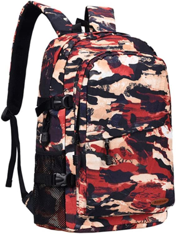 Color : A Backpack Backpack Male Fashion Travel Camo Large Capacity Student Leisure Bags Female Korean Personality