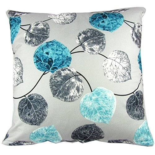 Blue grey throw pillow covers