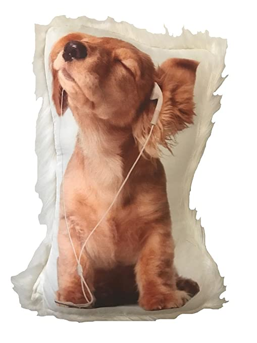Amazon Dog Themed Decorative Accent Pillow With Fur Trim Ear Stunning Decorative Dog Themed Pillows
