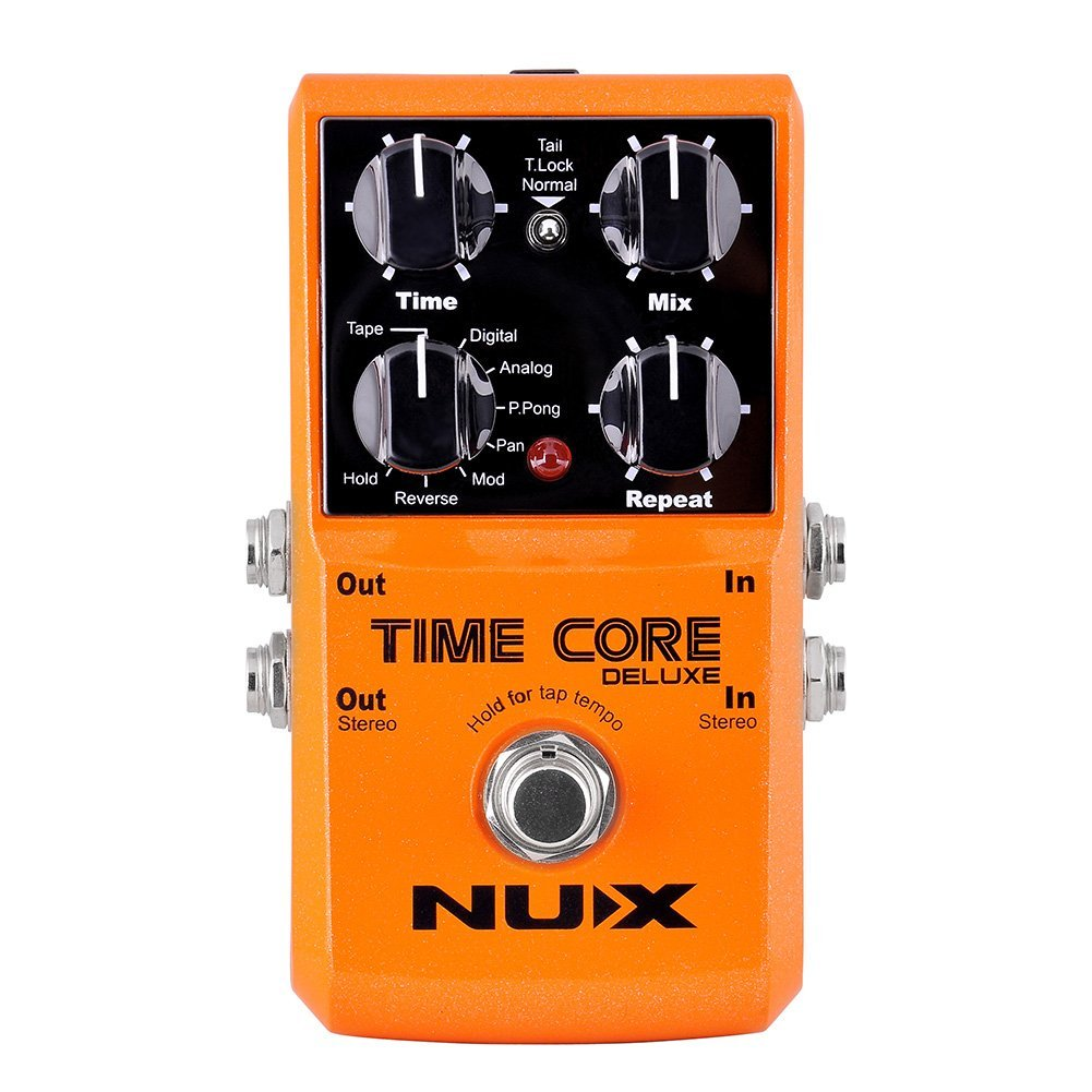 NUX Time Core Deluxe Delay Guitar Effect Pedal 7 Delay types with Looper Tone lock Upgrade mode by NUX