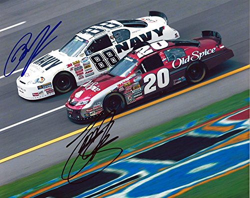 2x-autographed-tony-stewart-brad-keselowski-2008-on-track-racing-20-old-spice-88-navy-nationwide-ser