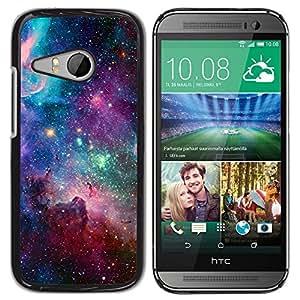 FlareStar Colour Printing Sky Universe Stars Cosmos Nebula Teal cáscara Funda Case Caso de plástico para HTC ONE MINI 2 / M8 MINI