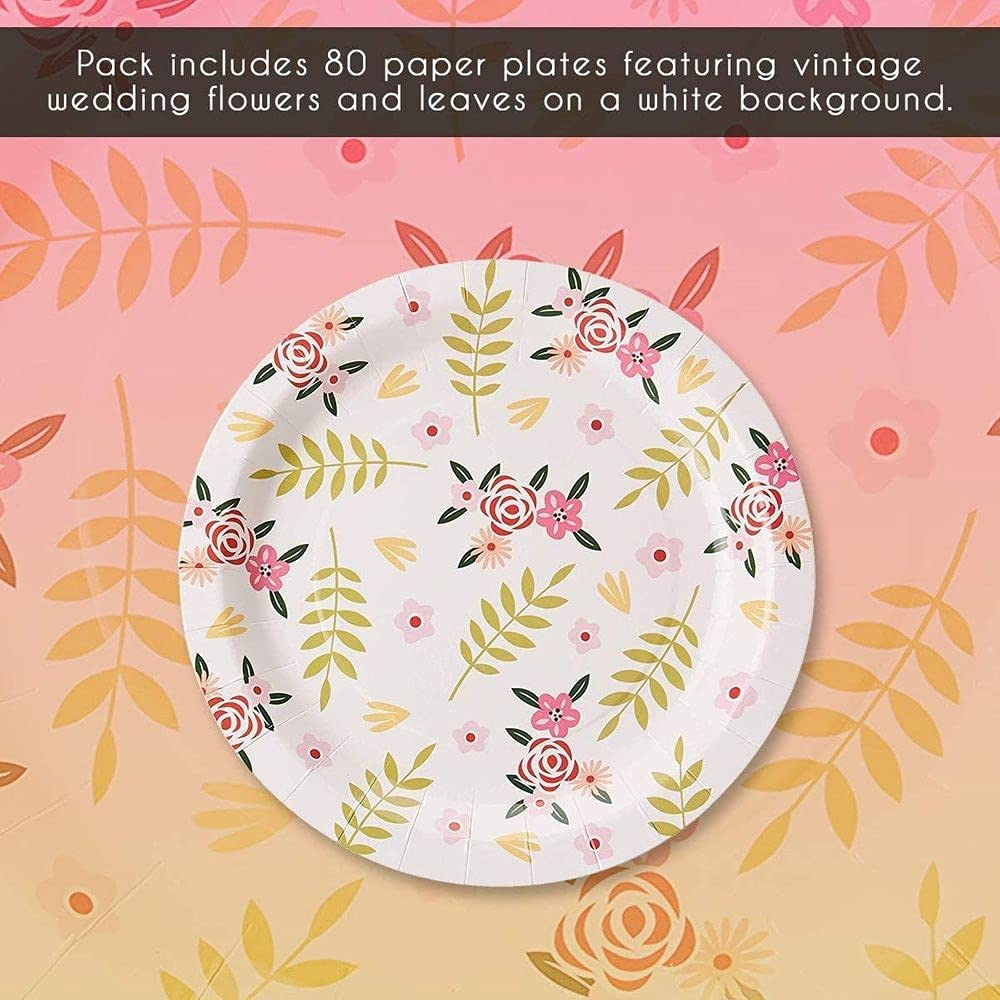 d/éjeuner Assiettes jetables 9 x 23 cm dessert d/îner 80 assiettes en carton Fournitures de f/ête pour ap/éritif Motif paresseux