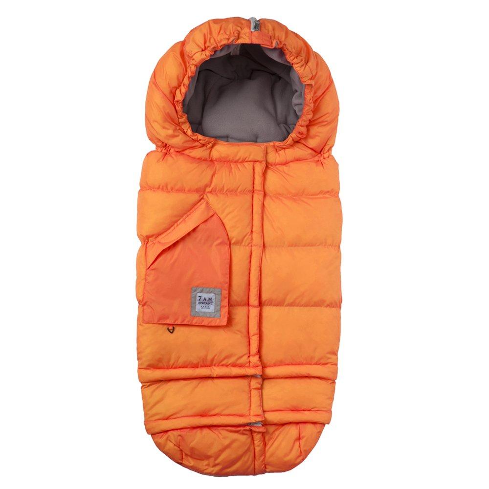 7AM Enfant Blanket 212 Evolution Extendable Baby Bunting Bag Adaptable for Strollers, Neon Orange by 7AM Enfant (Image #1)