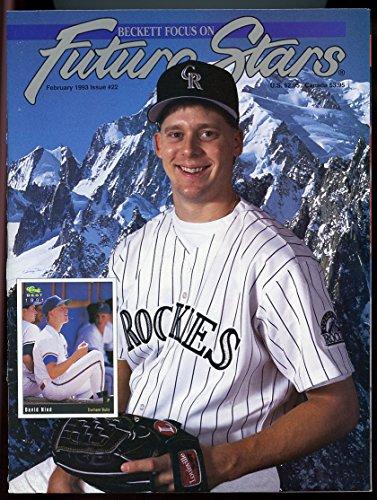 Beckett Future Stars Magazine #22 Feb 1993 David Nied Colorado Rockies Cover VERY ()