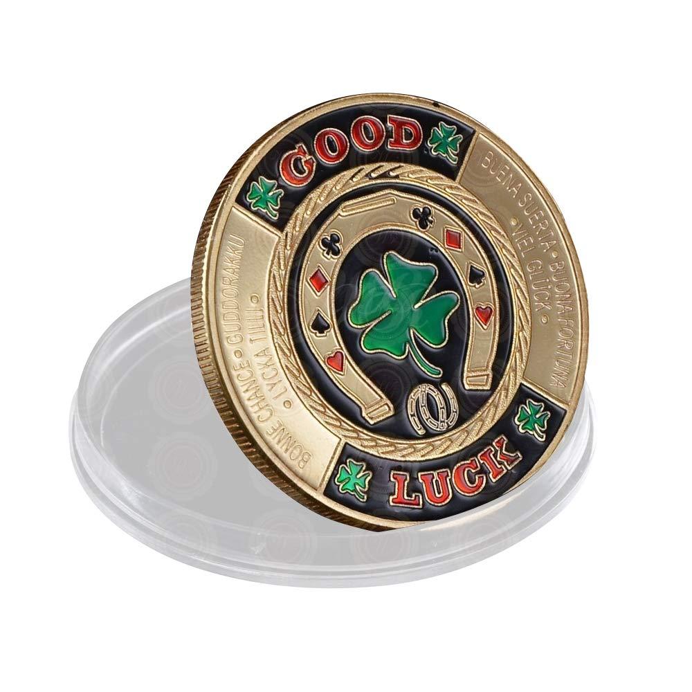 SW コイン ポーカーカードガード コイン収集品 テーブルゲーム B07MKQRV5C - ポーカー - プラスチックケース付き幸運 ポーカーチップ コイン ご主人 父 友人への素晴らしいコイン収集ギフト B07MKQRV5C, クーパーズパーク:4053955e --- 2017.goldenesbrett.net