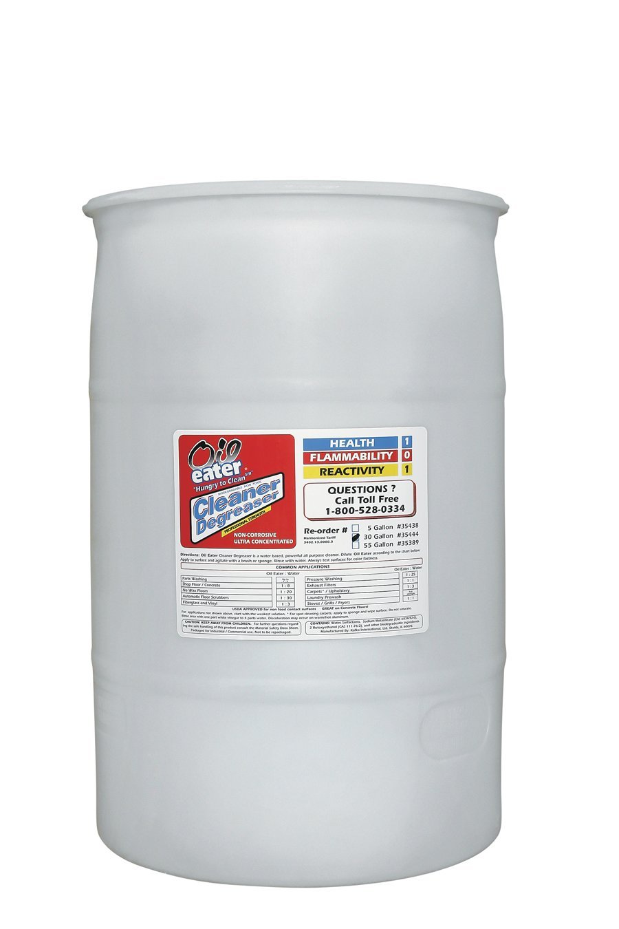 Cleaner Degreaser, Water-Based, 55 Gal