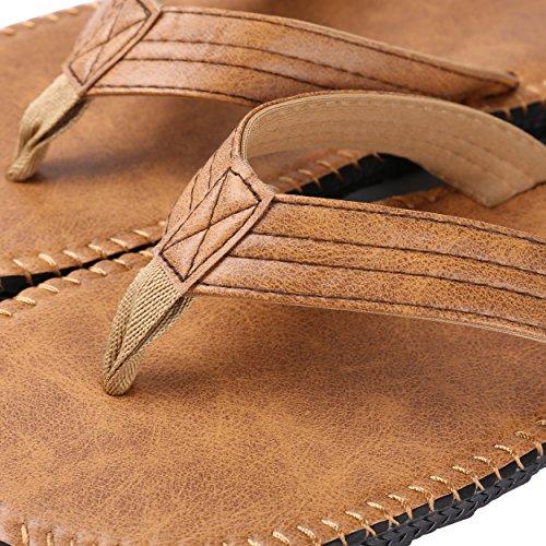 Aerusi SOY010043Rio Groove comodi sandali infradito, tan, US da uomo, taglia 9–10