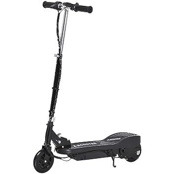 HOMCOM Patinete Eléctrico Niño 7-14 Años E-Scooter Plegable Manillar Ajustable 12km/h Batería Recargable 12V Monopatín 120W Carga 50kg