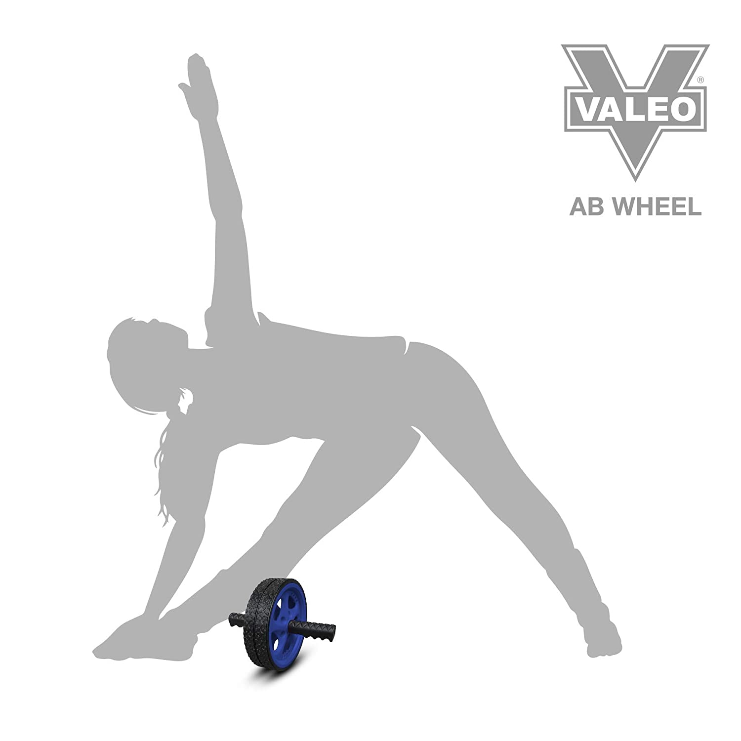 Fitness Equipment /& Accessories Valeo Ab Roller Wheel Exercise Wheel for Home Gym
