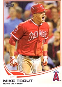 2013 Topps #338 Mike Trout Baseball Card - Wins 2012 Rookie of the Year Award