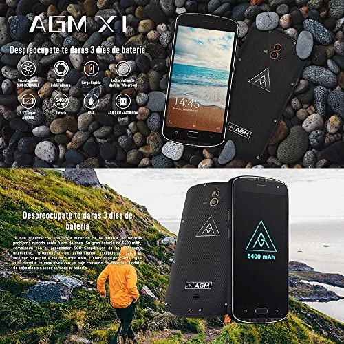 AGM X1 Smartphone 4G IP68 Impermeable Antigolpes Anti-Polvo ...