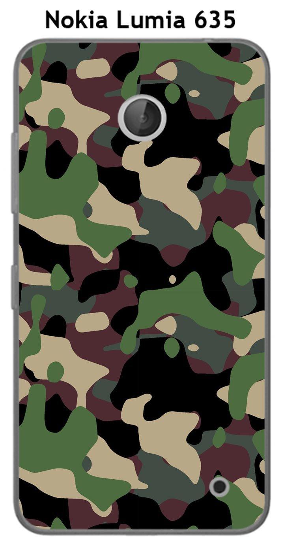 Onozo Carcasa Camuflaje 1 Caqui Verde para Nokia Lumia 635 ...