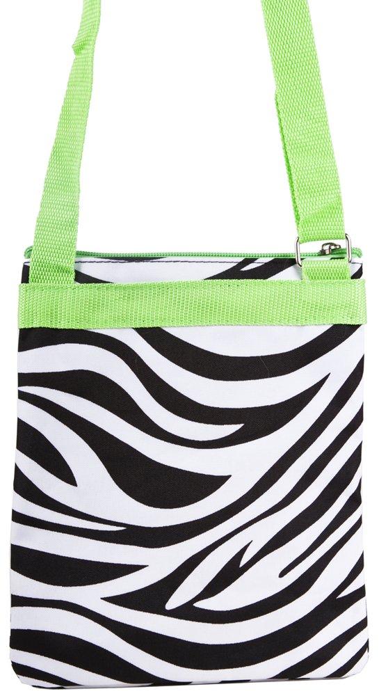 Zebra-Lime Fashion Print Small Hipster Cross-body Bag
